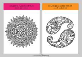 Disegni da colorare gratuiti per adulti vettore