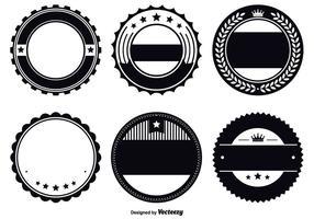 Set di modelli di badge assortiti vettore