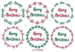 Carino insieme di etichette di Natale vettore