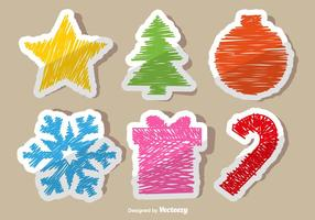 Adesivi di doodle di Natale