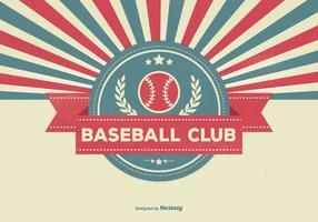 Retro illustrazione del club di baseball di stile vettore