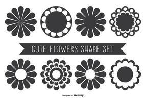 Forme di fiori assortiti carini vettore