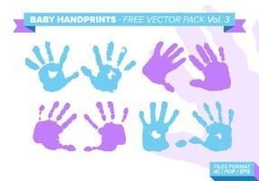 Baby Handprints Vector Pack gratuito Vol. 3