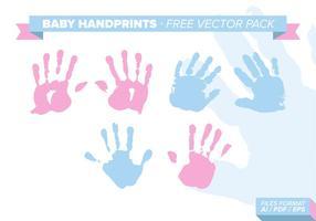 Pacchetto gratuito di vettore di Handprints del bambino