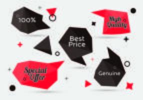 Collezione di banner in vendita in stile vettore