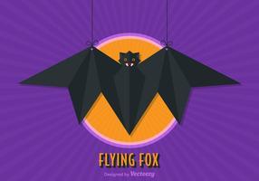 Illustrazione vettoriale di volpe volante gratis