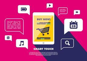 vettore mobile touch screen gratuito