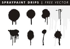 Spraypaint gocciola vettoriali gratis