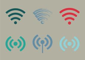 Icona di vettore WiFi gratuito