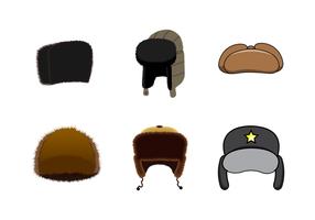 Vettore libero del cappello di pelliccia dell'uomo