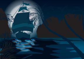 mare notte mistica vettore