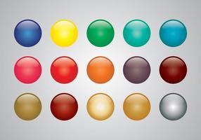 Vettori di sfere colorate lucide