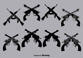 Vector pistole incrociate