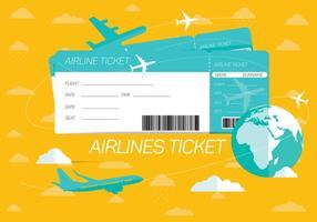 Fondo di vettore del biglietto di linee aeree