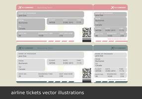 Biglietti aerei vettoriali