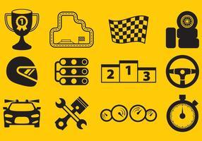 icone vettoriali di corse