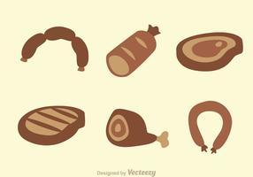 Icone di carne e salsiccia vettore