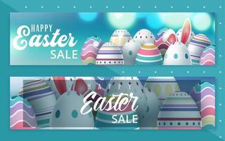 insieme della bandiera dell'uovo di vendita di Pasqua vettore