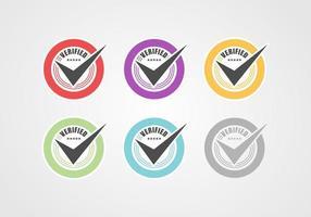 raccolta badge verificata vettore