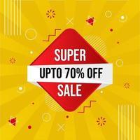 banner promozione super vendita vettore