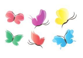 Belle ali di farfalla vettore