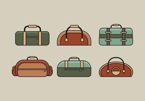 Insieme dell'illustrazione della borsa di vettore