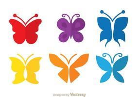 Farfalla colorata vettore