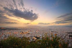 Athene vanaf de Lycabettus-heuvel.