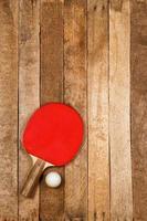 pingpongpeddel en bal